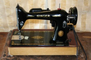vintage sewing machines, Singer sewing machines, sewing studio